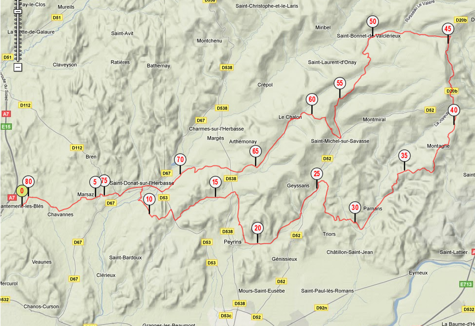 Virée Drôme des collines le samedi 14 mai 2011 387140parcour