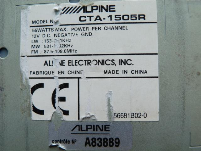 //////Alpine CTA 1505, un super tuner pour un système évolutif! 387913P1130617