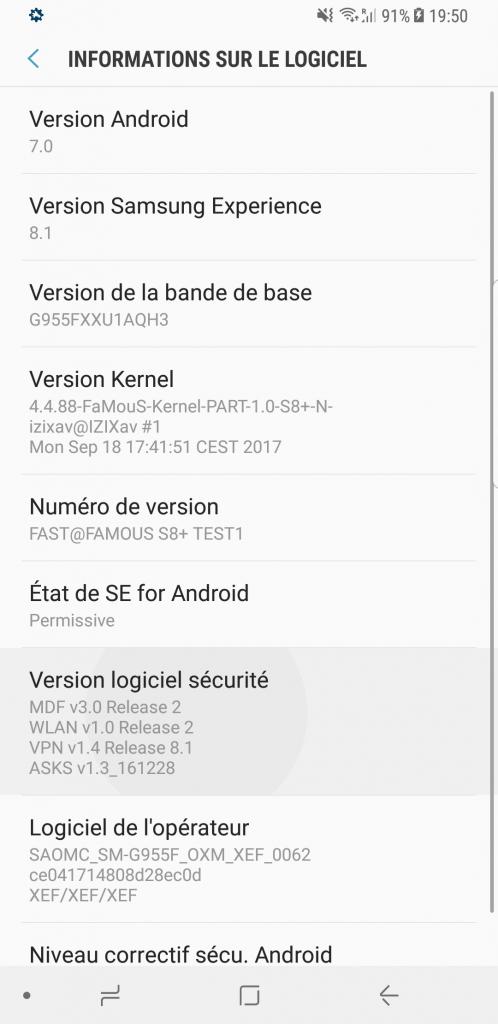 [ FaMouS Custom Kernel ] Samsung Galaxy S8+ G955F 390667Screenshot20170918195049