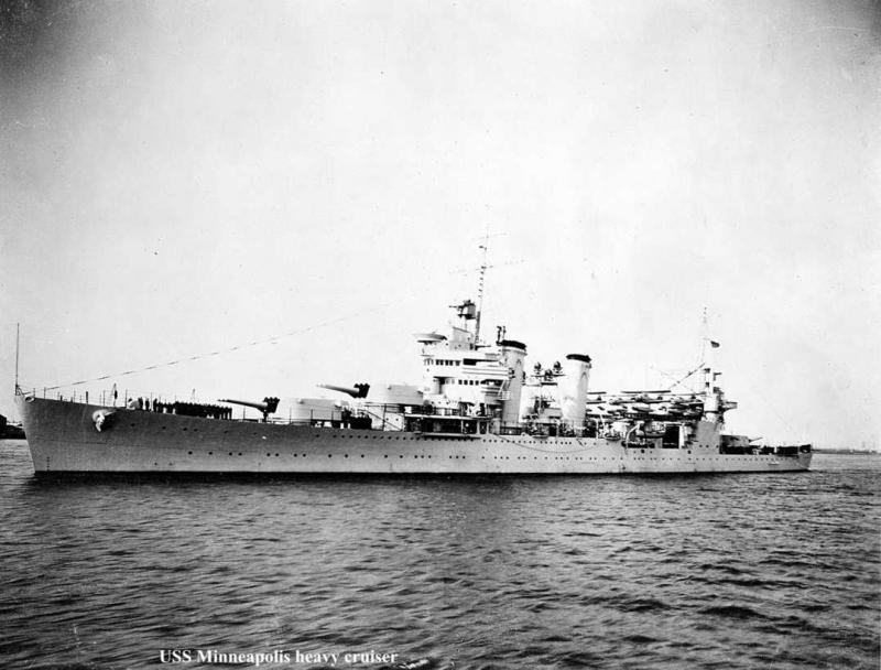 USN CROISEUR LOURD USS WICHITA 393302USSMinneapolis3