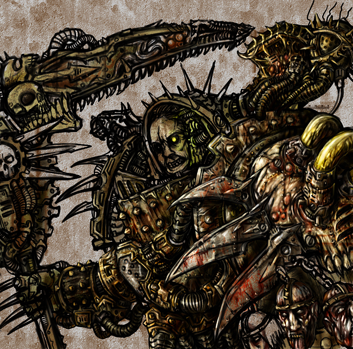 [W30K] Collections d'images : Les Primarques 398879MortarionfullcolorWIPIIbykriegsmachine14