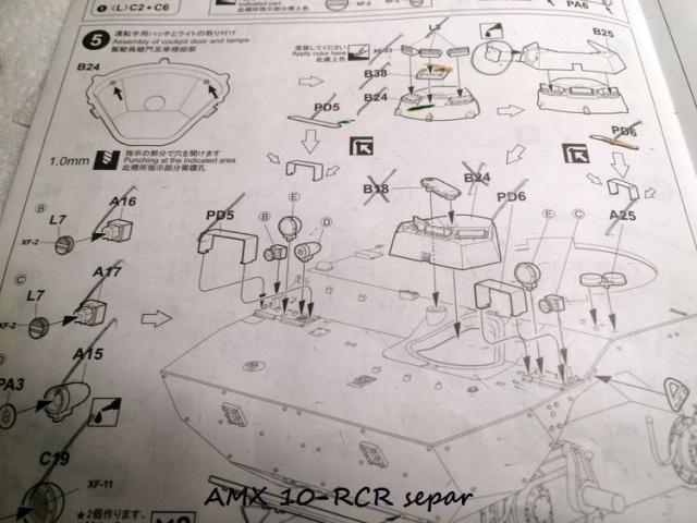 AMX 10 RCR SEPAR maquette Tiger Model 1/35 399647IMG3778