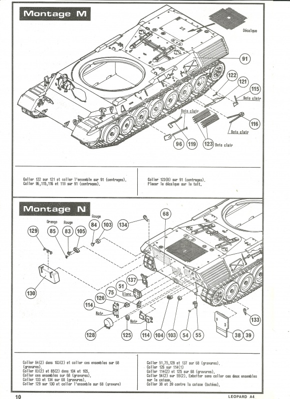 Char LEOPARD A4 - (Réf. 823) 1/35 399655HellerLopardA4823010