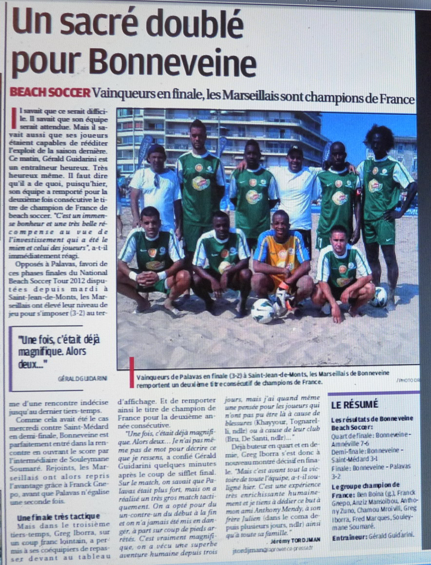 BEACH SOCCER A MARSEILLE /  MARSEILLE 12 EME MONTREDON ... 404718Photo010