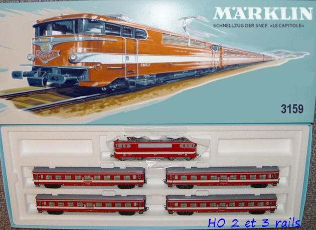 Coffrets Märklin 1936 - 1968 (rouges, noirs, verts ou bleus) 407502Marklinzugpackungcapitole31591971R