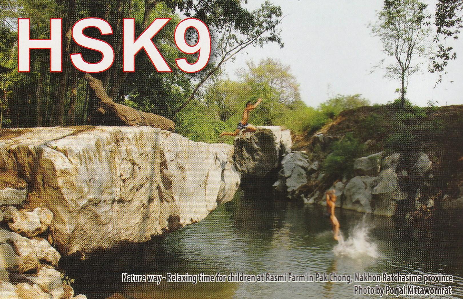 QSL de HSK9 radio Thailande 411659IMG201701190001