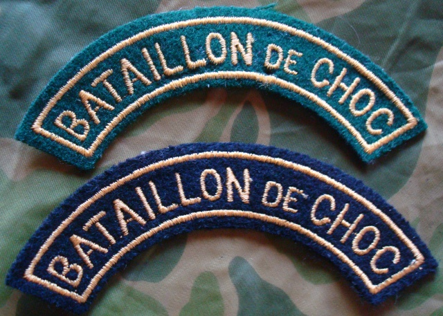 LES INSIGNES DU BATAILLON DE CHOC 1943/1963. 416589BadgeMontauban4950