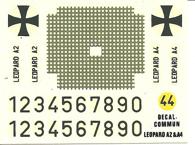 Char LEOPARD A4 - (Réf. 823) 1/35 417582HellerLopardA4823013