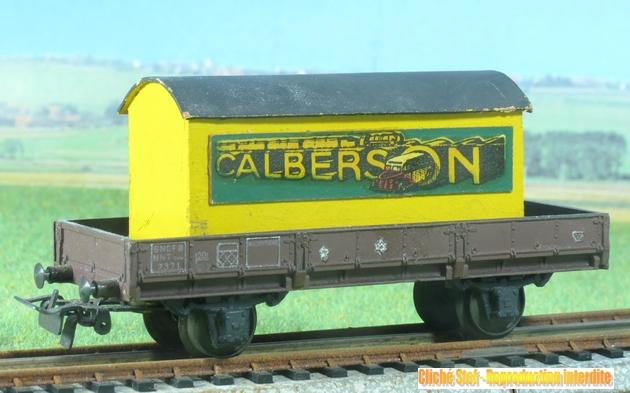 Wagons à 2 essieux zamak à essieux chargés 419024VB2essbordeauzamakcontainerCalbersonIMG3113