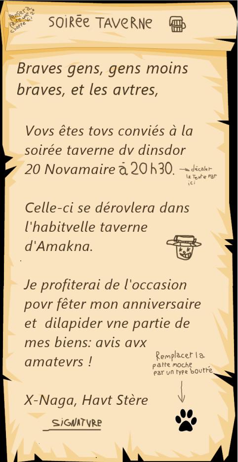 [Event] Soirée Taverne huitième édition 421955ParcheminB