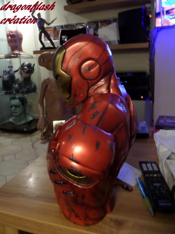 dragonflash création : buste iron man 1/2  (+-40 cm de haut) le final 4240748551