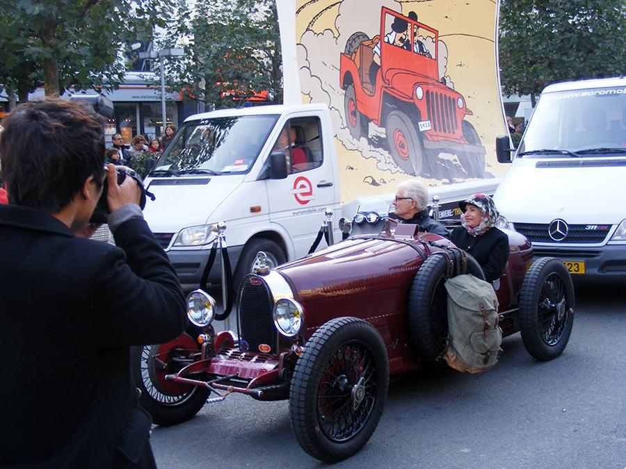 """Bruxelles côté BD  """"Tintin en automobile"""" 424470DSCF6139"""