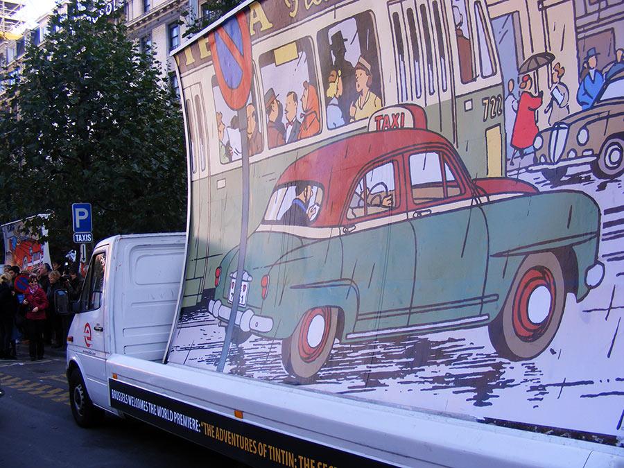 """Bruxelles côté BD  """"Tintin en automobile"""" 427997DSCF6166"""