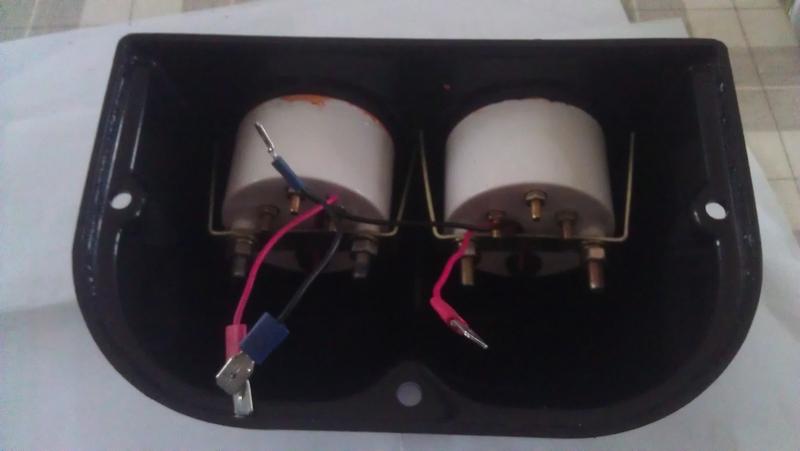 Installation Manomètres pression huile & température d'eau 429351IMAG1219