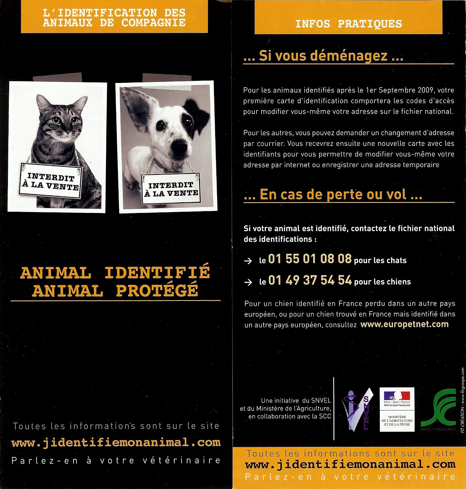 Identification obligatoire des chiens et des chats. 439359numrisation0006