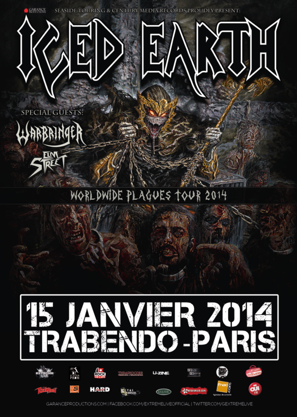 15.01 - Iced Earth + Warbringer + Elm Street @ Paris 44494920140115IcedEarthmid