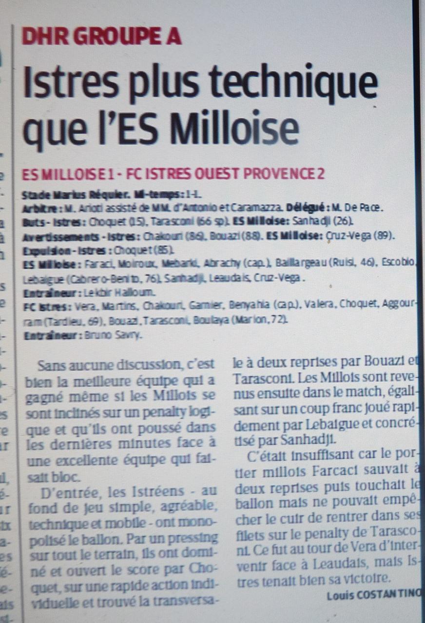ES MILLOISE //PHA PROVENCE  - Page 2 449205P1170180