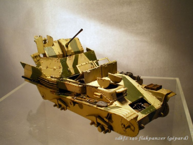sd.kfz 140 flakpanzer (gépard) maquette Tristar 1/35 452317IMGP3096