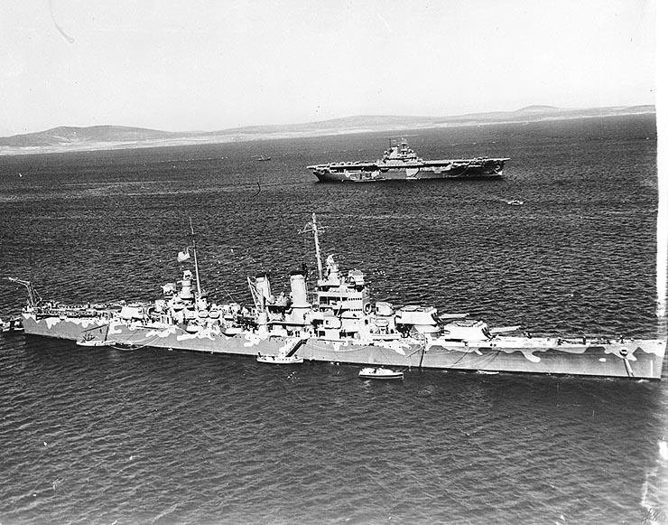 USN CROISEUR LOURD USS WICHITA 453588USSWichitaCA45etUSSWasp