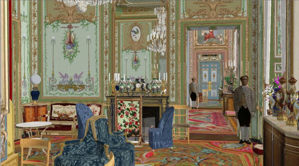 Reconstitution virtuelle du Palais des Tuileries, états Premier Empire et Second Empire - Page 2 454862enfilade3