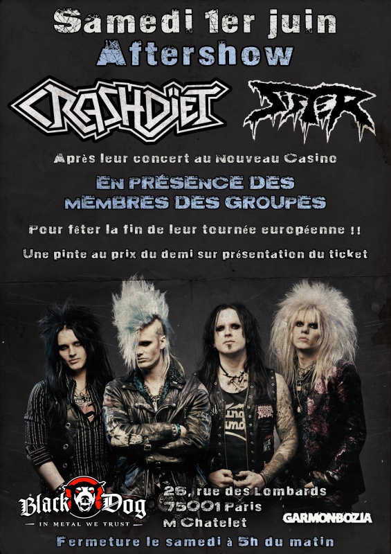 01.06 - Crashdiet + Sister + Sleekstain + .. @ Paris 456221AfterCrashdietblackdog
