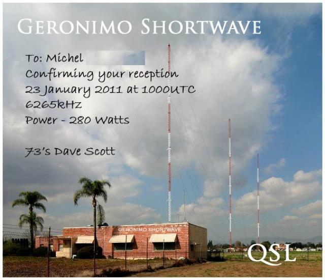 Les anciennes QSL's des membres du Forum - Page 20 457334Geronimo20110123