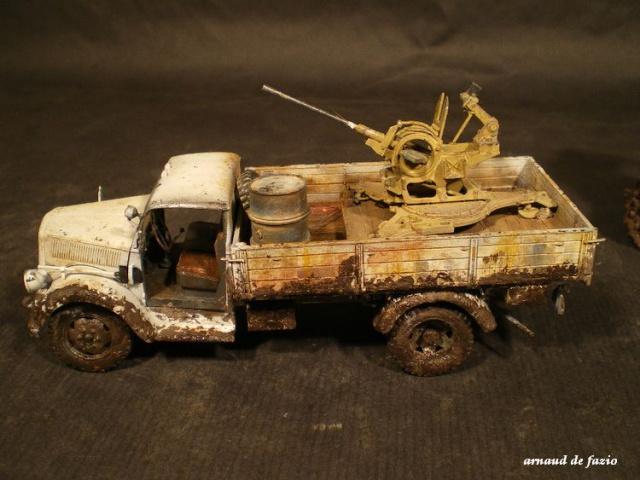 tracteur d artillerie soviétique chtz s-65 version allemande 1/35 trumpeter,tirant 2 blitz de la boue 458821IMGP1861