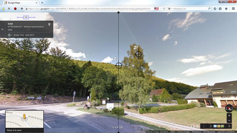 1976: le 20/07 à 21H30 22H -sphère lumineuse - Lieu dit Fackenthal (67)  - Page 2 4593713dFischhutteStreetViewIIIzonecentrageZviseur