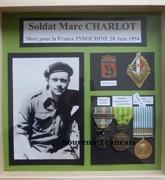 Soldat Marc CHARLOT MPLF le 28 Juin 1954 Régiment de Corée/GM100 460645P6020009Copie