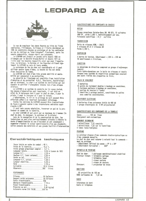 Char LEOPARD A2 - (Réf. 822) 1/35 463151HellerLopardA2822002