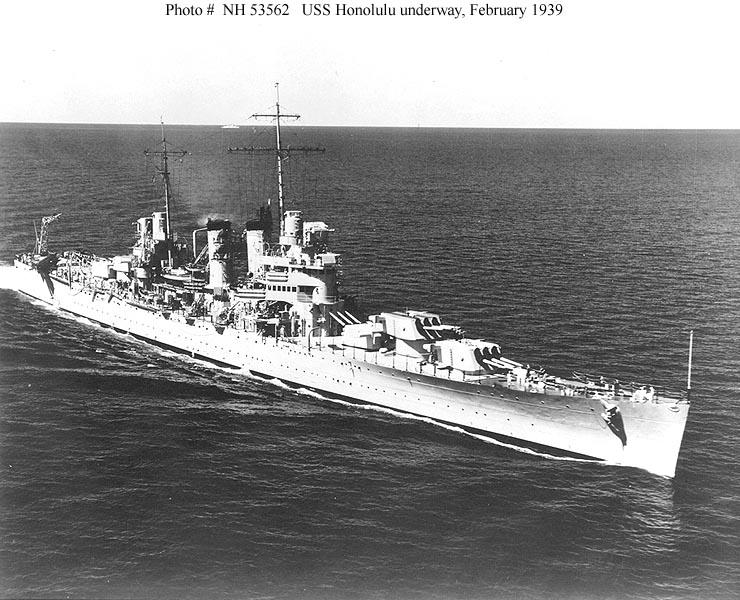 USN CROISEUR LOURD USS WICHITA 466159USSHonolulufvrier1939
