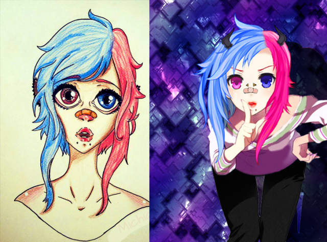 Adaptation des portraits en manga 469862teste06