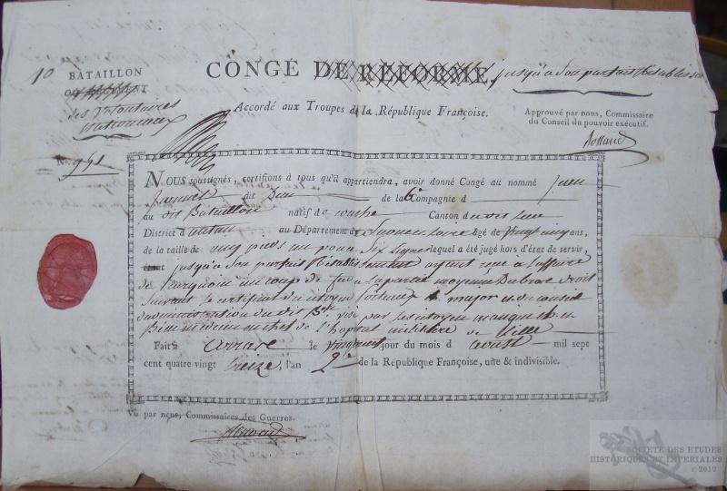Les bataillons de la Réserve ou bataillons de Soissons ou Bataillons de volontaires nationaux dits de la Réserve 474590DSCF7219