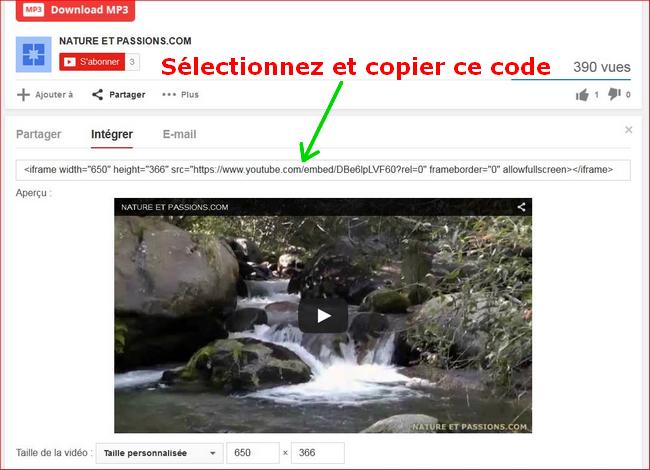 insertion - Tuto - Insertion d'une vidéo youtube 475269571d