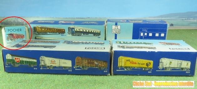 Les différents types de wagons marchandises Pocher ; boites et attelages 478835PocherboitespolychromesIMG3269