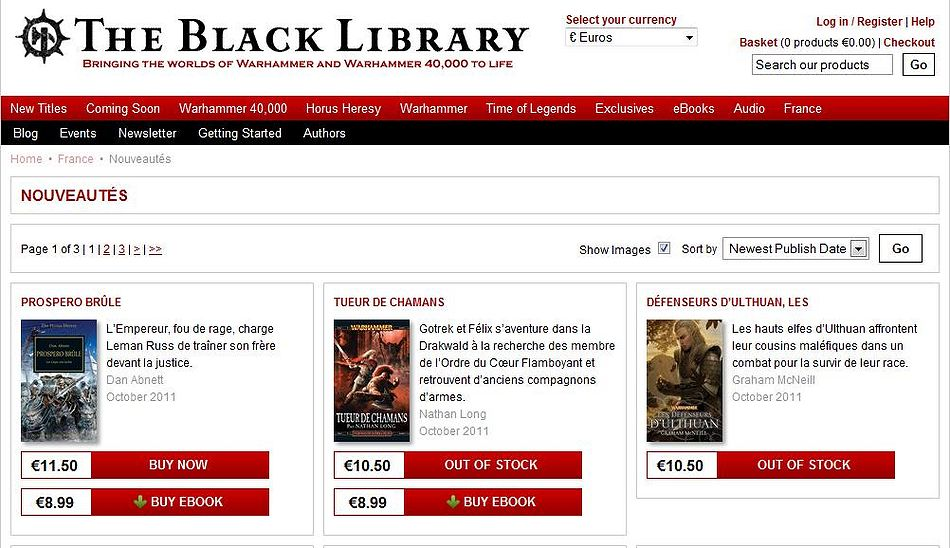 Les stocks de la Black Library France 480460outofstock