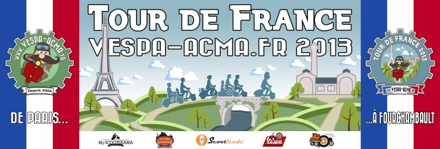 Tour de France Vespa-ACMA 2013 485432TDF2013Banderole06