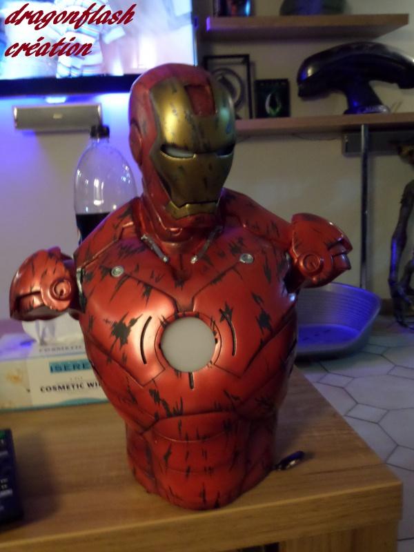 dragonflash création : buste iron man 1/2  (+-40 cm de haut) le final 4883305240