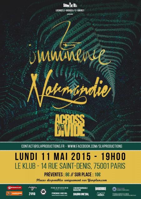 11.05 IMMINENCE - NORMANDIE - ACROSS THE DIVIDE @ Paris 489214ParisPosterweb2