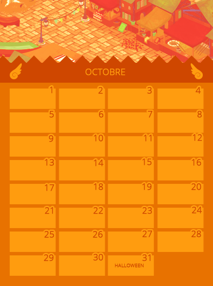 Calendrier d'Octobre 490145octobre