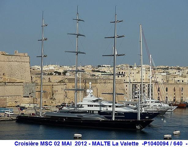 MSC Splendida Du 28 avril au 5 mai 2012 Gêne Barcelone Tunis La valette Taormine Messine Rome 492932P1040094