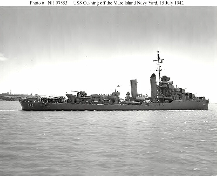 USN DESTROYERS CLASSE MAHAN 494484USSCushing15071942