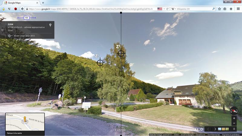 1976: le 20/07 à 21H30 22H -sphère lumineuse - Lieu dit Fackenthal (67)  - Page 2 4964413cFischhutteStreetViewIIIzonecentrageZviseur