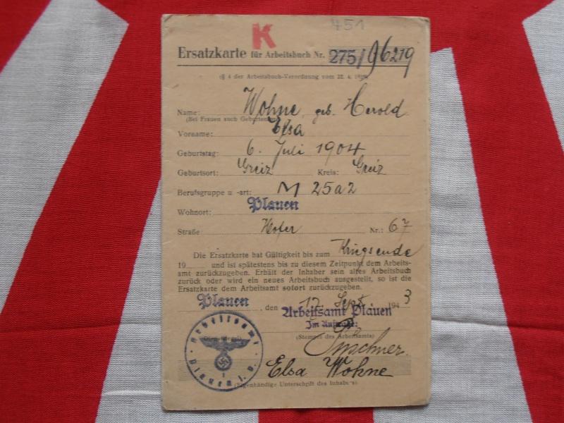 Quelques documents Allemands 497590P6210007