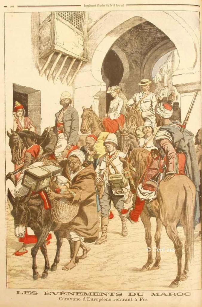 صفحات من تاريخ المغرب الحديث من خلال Le Petit journal illustré 498358pj73915011905b