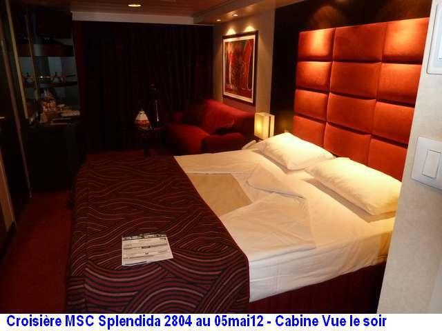 MSC Splendida Du 28 avril au 5 mai 2012 Gêne Barcelone Tunis La valette Taormine Messine Rome 499688P1030830CanineSoir