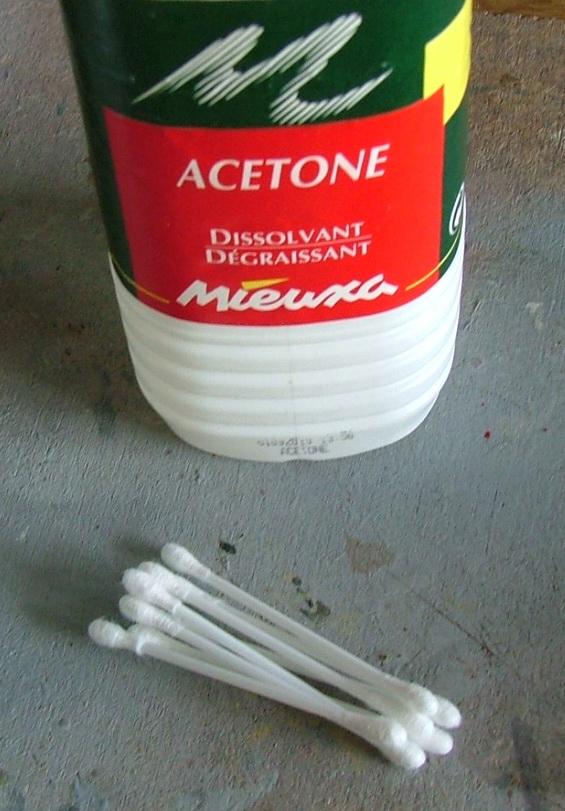 Astuce pour poncer le pastic: ponçage liquide à l'acétone 501483DSCF5320