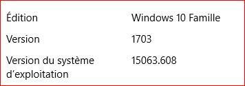 Mise à jour cumulative KB4038788 Windows 10 501792versionWin10