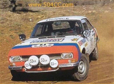 Peugeot 504 V6 Coupé Safari Rally 1978 509890ap5040001