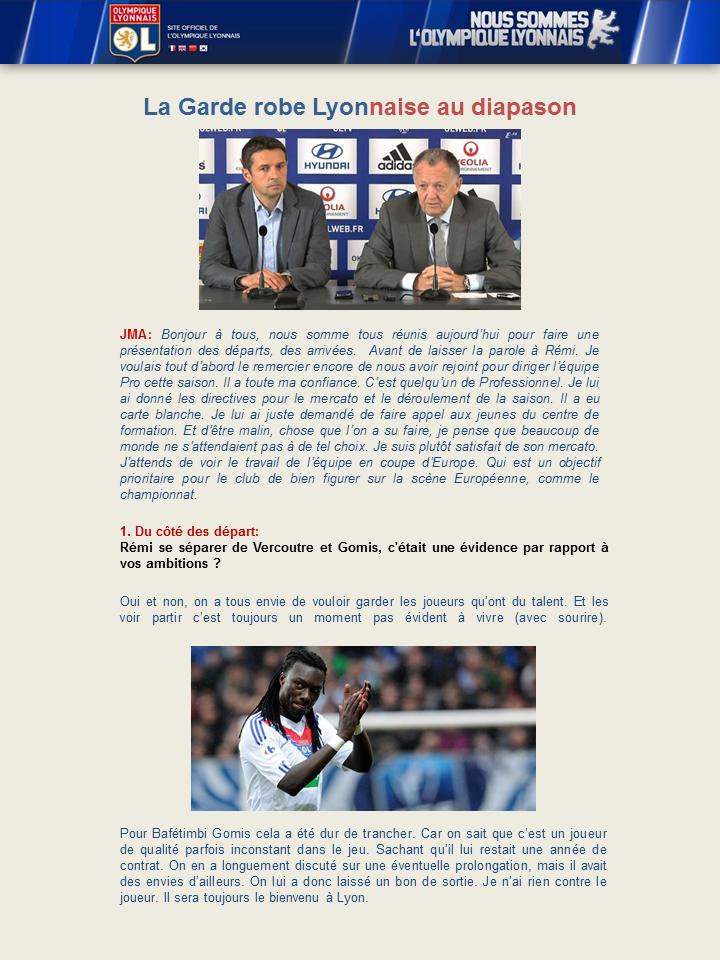 """OLWEB: """"Le site officiel de l'Olympique Lyonnais"""" 517971Diapositive1"""